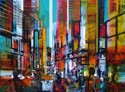 Acryl schilderij van Peter Meijer