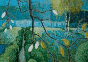 Harrie Frijns - Acryl op paneel - Kunstwerk