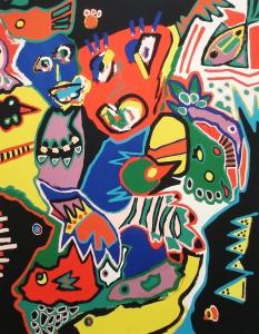 Marianne Naerebout - Zeefdruk - Kunstwerk