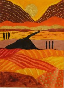 Ronald Boonacker - Acryl op papier- Kunstwerk