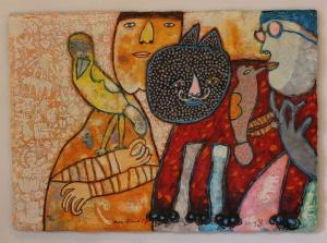 Shahid Parves - Gemengde Techniek - Kunstwerk