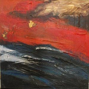 Sundagang - Olieverf schilderij - Kunstwerk