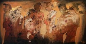 Sjer Jacobs - Olieverf schilderij - Kunstwerk