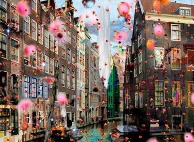Geert Lemmers - Fotocollage op dibond - Kunstwerk